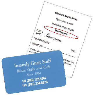 image of sample Loyalty card and receipt